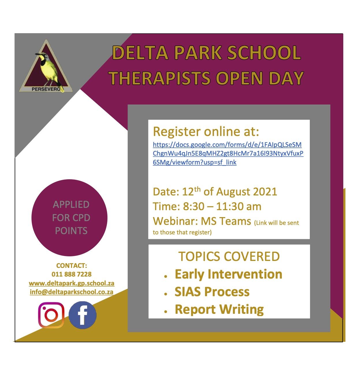 DPS Open Day for Therapists